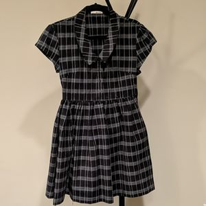LA Made black & gray collared dress